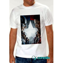 Remeras Capitán América Civil War, Batman, Marvel Y Dc