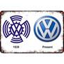 Carteles Antiguos Chapa Gruesa 60x40cm Vw Volkswagen Au-649
