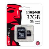 Memoria Kingston Micro Sd Hc 32gb Clase 10 Full Hd 80mb/s