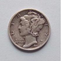 Estados Unidos, 10 Centavos 1941 Plata Dime Mb Mk 195