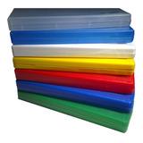 Cajas Dvd Color 14mm  Marca Silver Mod 5 Brillosas X10 Unid