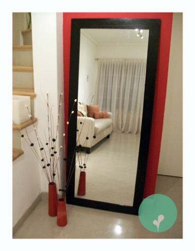 Espejo con marco de madera excelente precio 1 70 x 0 70 for Espejo a medida precio