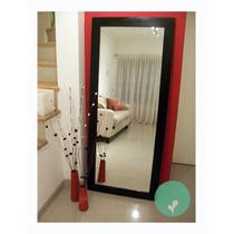 Espejo Con Marco De Madera-excelente Precio! 1,70 X 0,70
