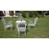 Juego De Jardin Hierro Forjado Blanco en venta en Capital Federal ...