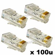 Fichas Rj45 Conector De Red Cable Utp Cat5e 100 Unidades