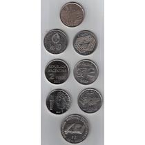 8 Monedas Conmemorativas Argentinas Exc / S.c !!!!