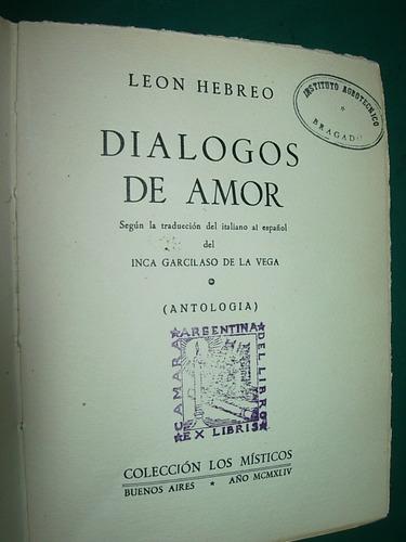 Libro antiguo dialogos de amor leon hebreo los misticos - Libros antiguos valor ...