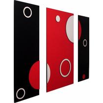 Cuadros Modernos Trípticos Abstractos Minimalistas En 3d