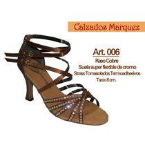 Zapatos Para Bailar Salsa Bachata Danza Latina Con Strass