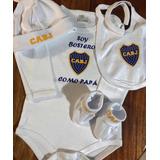 Boca Jrs. Ajuar Completo Para Bebés! La Mejor Calidad!!!