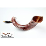 Shofar 112 Cms. Antilope Yemenita, Jumbo + Manual +base