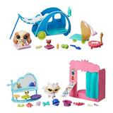 Combo X2 Littlest Pet Shop Set Campamento Y Cabina Hasbro