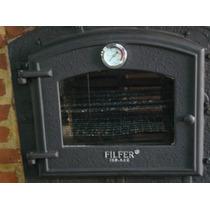 Horno Leña Calor Envolvente Filfer Vidrio Visor
