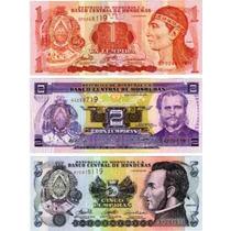 3 Billetes De Honduras Año 2004/6 Sin Circular