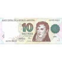 Billete Arg Bottero 3042 $10 Convert 1er Diseño Ex+ Palermo
