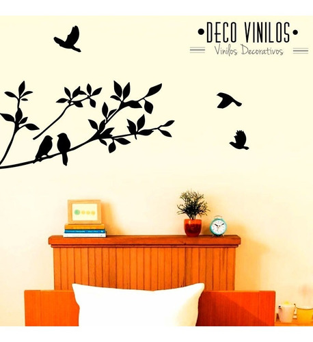 Vinilos Decorativos Para Pared Pajaros Arbol Living En Venta