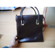 Cartera Cuero Marron Marca Extra Large