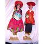 Antigua Familia-c Bebe Muñecos Bolivianos- Tipicos-vitrina