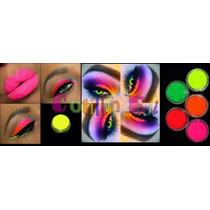 Cotillon Maquillaje Fluo - Fiestas Neon Potes 2,5gr X 8 Uni