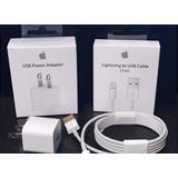 Cargador Pared Y Cable Usb Lightning iPhone Apple Original