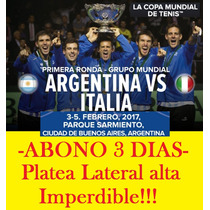 Copa Davis 2017 Argentina Vs Italia Abono 3 Días