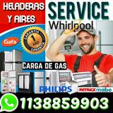 Service Heladeras Carga Gas Comerciales Reparacion  Servicio