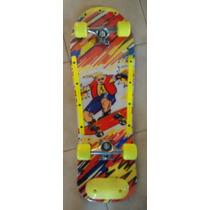 Skate Patineta Longboard 4 Ruedas Reforzada Con Punteras