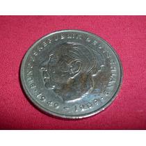 Moneda 2 Marcos Alemania 2 Deutsche Mark Theodor Heuss 1972