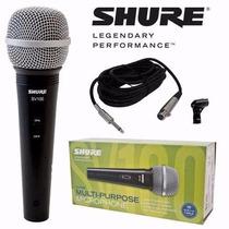 Mic Shure Sv100 Para Voces Con Cable Y Pipeta De Regalo!
