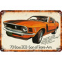 Carteles Antiguos 60x40cm Ford Shelby Cobra Mustang Au-035