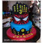 Tortas Avenger-h. Araña-superheroes-ironman-c.america-hulk