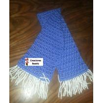 Bufandas Tejidas A Mano-crochet Unisex, Oferta!
