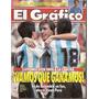 El Gráfico 3854 M- Ruben Da Silva/ Maestro Tabarez/ Maradona