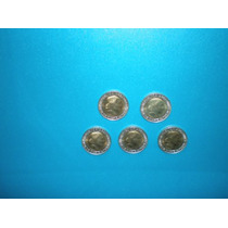 Lote De 5 Monedas De 1 Peso De Evita - Nuevas Sin Circular