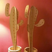 Original Cactus 43 Cm En Madera. Lo Adaptamos A Su Necesidad