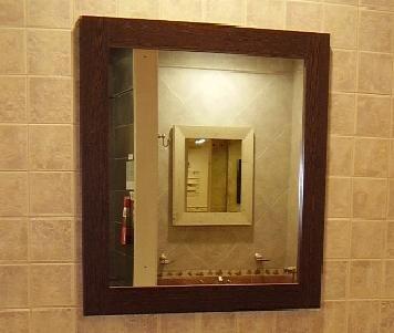 Espejo color wengue 50x65cm vanitory ba o amoblamientos fl - Precio espejo bano ...