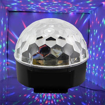 Bola Led Efecto Audioritmica Dj Magic Ball Giratoria 18w !