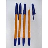 Boligrafo Birome Azul Trazo 1mm Caja X50 Economico Lapicera