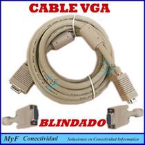 Cable Vga 5mts.blindado Con Filtros. Hdtv,led,lcd,cañon.