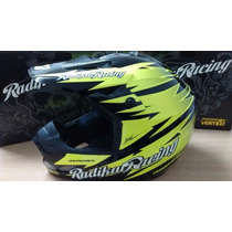 Casco Motocross Radikal Volt Racing Ambos Colores Y Talles