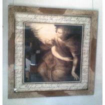 Cuadro 78x78 Cm, Lám. Import., Marco Artesan Imagen De Angel