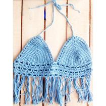 Croptop Bikini Tejida Al Crochet