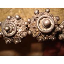 Filigrana Plateados Botones Florentinos Muy Antiguos