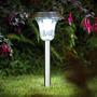 Estaca Solar X 8 Unidades En Acero Inoxidable -lámpara Solar