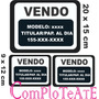 Cartel-ploteo-sticker Vendo Auto Por Unidad Y Pack X3