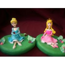 Princesas Disney Con Base En Porcelana Fría