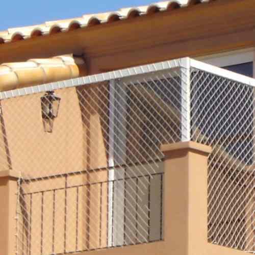 Cerramiento red proteccion terraza baranda ni o bebe gato for Red transparente para gatos