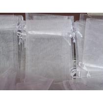 Souvenirs 20 Bolsitas ,bolsas De Organza Blanca 13 X 18