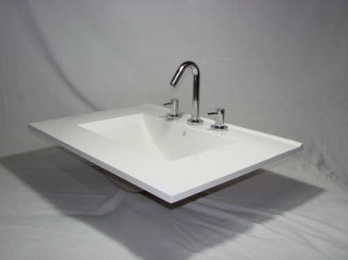 Mesada bacha marmol sintetico para ba o vanitorys marmol for Piletas para bano