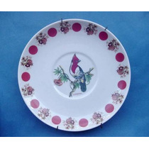 Antiguo Plato Decorativo De Porcelana Con Figura De Cardenal